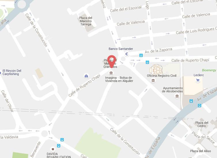 mapa de situación de Imagina Alcobendas