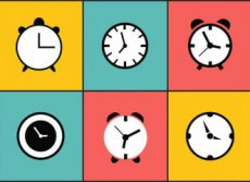 set-relojes-vector