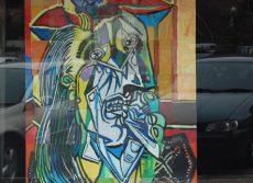 """Mural alumnos IES Giner de los Ríos. """"Mujer que llora"""" Picasso"""